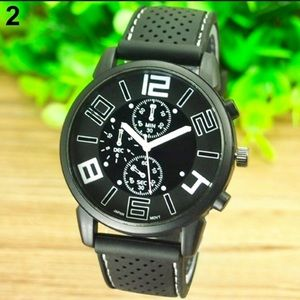 Other - Casual Black and White Watch